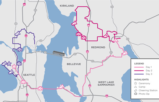 2016 Seattle 3-Day Route
