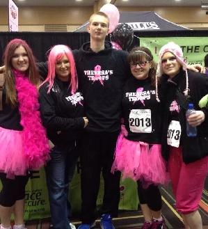 My family walking the Race for the Cure in memory of my aunt