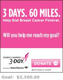 Help me reach my goal for the Susan G. Komen 3-Day