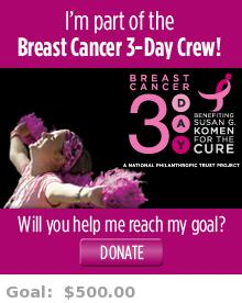 Help me reach my goal for the Michigan Breast Cancer 3-Day!