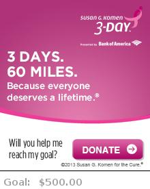 Help me reach my goal for the Susan G. Komen Dallas/Fort Worth 3-Day