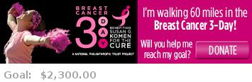 Help me reach my goal for the Washington, DC Breast Cancer 3-Day!