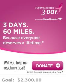 Help me reach my goal for the Susan G. Komen San Francisco Bay Area 3-Day